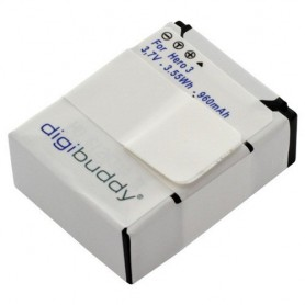 digibuddy, Accu voor GoPro Hero3 / Hero3+ Li-Ion 960mAh, GoPro foto-video batterijen, ON1169, EtronixCenter.com