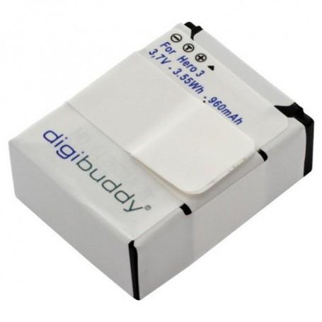 digibuddy, Accu voor GoPro Hero3 / Hero3+ Li-Ion 960mAh, GoPro foto-video batterijen, ON1169, EtronixCenter.com