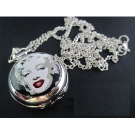 Unbranded - Marilyn Monroe Kwarts Horloge Ketting ZN012 - Quartz - ZN012 www.NedRo.nl