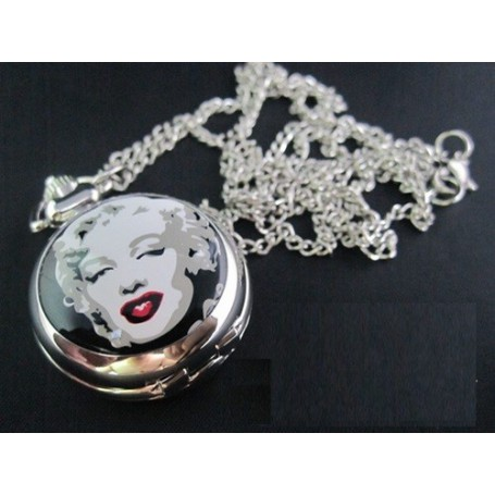 Unbranded, Marilyn Monroe Pocket Watch Chain Watch ZN012, Watch actions, ZN012