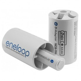 NedRo - 2x Panasonic Eneloop Adapter AA R6 to D Mono R20 ON1193 - Other - ON1193 www.NedRo.us