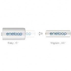 Panasonic - 2x Panasonic Eneloop Adaptor AA R6 la Baby C ON2009 - Diverse - ON2009-C www.NedRo.ro