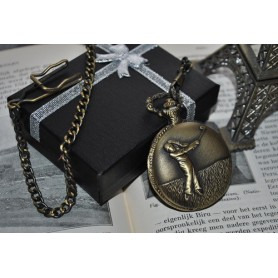 NedRo, Golf Sport Vintage Bronze Quartz Pocket Watch ZN034, Quartz, ZN034, EtronixCenter.com
