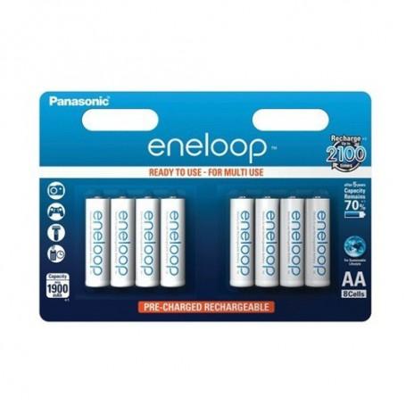 Panasonic, AA HR6 R6 Panasonic Eneloop 1.2V 1900mAh Oplaadbare Batterij, AA formaat, BS150-CB, EtronixCenter.com