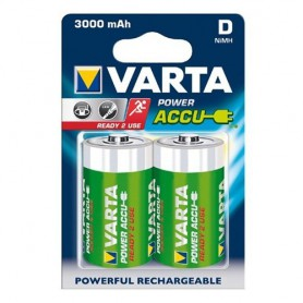 Varta - Varta Rechargable Battery Mono D 3000mAh - Size C D and XL - ON1327-5x www.NedRo.us