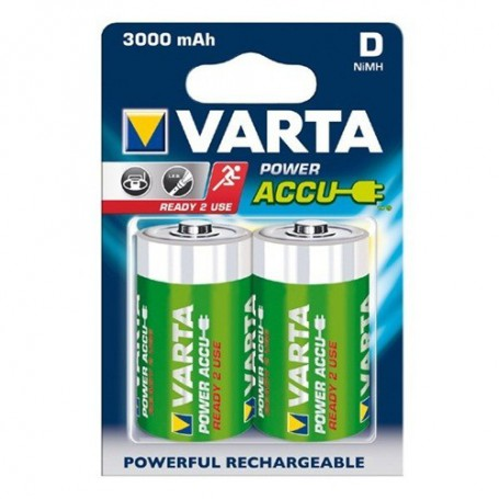 Varta, Varta Rechargeable Battery Mono D 3000mAh - Blister with 2 pieces, Size C D and XL, BS256-CB