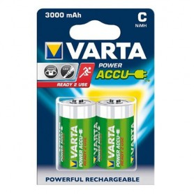 Varta - Varta Reachargable Baby C 3000mAh - Size C D and XL - ON1332-5x www.NedRo.us