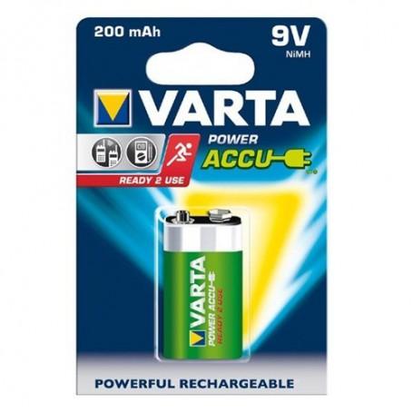 Varta, Varta Oplaadbare Batterij 9V E-Block 200mAh, Andere formaten, BS261-CB, EtronixCenter.com