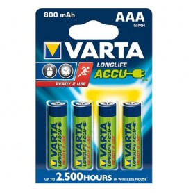 Varta - Varta Rechargable Battery AAA HR3 800mAh - Size AAA - ON1331 www.NedRo.us