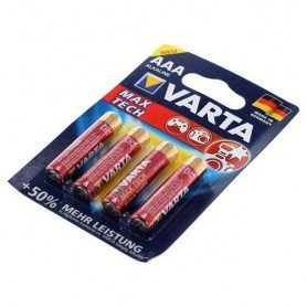 Varta - VARTA Max Tech LR03 / AAA / R03 / MN 2400 1.5V alkaline batterij - AAA formaat - BS156-CB www.NedRo.nl
