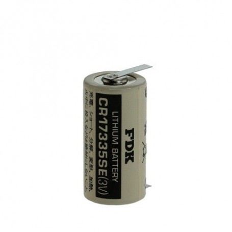 FDK - FDK Battery CR17335SE-T1 Lithium 3V 1800mAh - With Soldering Tag - Other formats - ON1340-CB www.NedRo.us