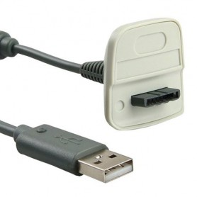 NedRo - 2 in 1 Charging Cable for Xbox 360 Wireless Controller - Xbox 360 cables & batteries - YGX521 www.NedRo.us