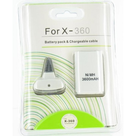 Play & Charger USB kabel + Accu voor XBOX 360