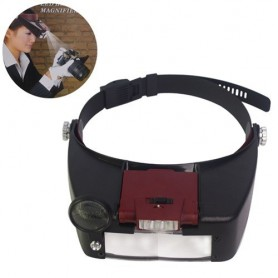 NedRo, 3 Lens 2 LED Headband Magnifier Magnifying Glasses, Magnifiers microscopes, AL052, EtronixCenter.com