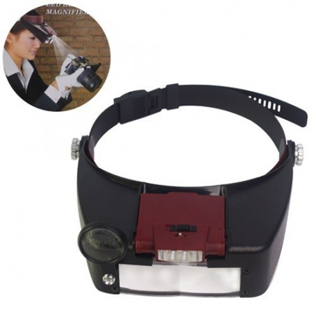 NedRo - 3 Lens 2 LED Headband Magnifier Magnifying Glasses - Magnifiers microscopes - AL052