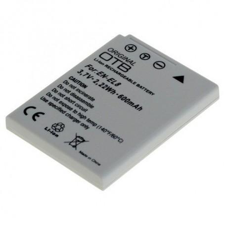 OTB - Batterij voor Nikon EN-EL8 Li-Ion 600mAh - Nikon foto-video batterijen - ON1417 www.NedRo.nl