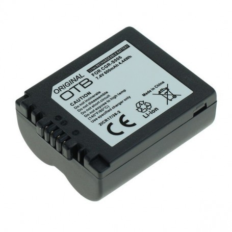 OTB - Batterij voor Panasonic CGR-S006 600mAh Li-Ion - Panasonic foto-video batterijen - ON1431 www.NedRo.nl