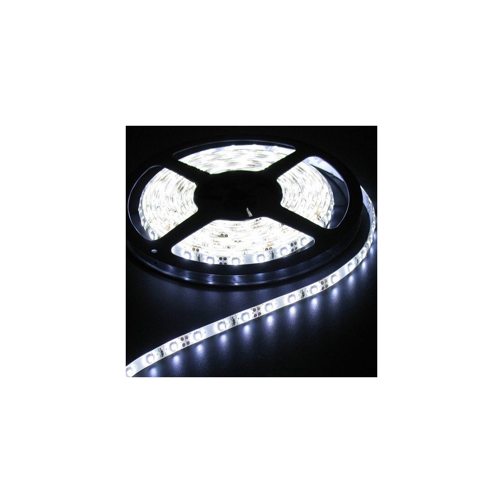 NedRo - 5M Cold White 60LED/M IP65 White PCB SMD3528 AL044 - LED Strips - AL044 www.NedRo.de