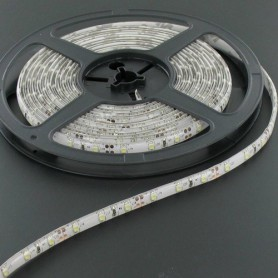 NedRo - 5M Koud Wit Led Strip 60LED/M IP65 Wit PCB SMD3528 AL044 - LED Strips - AL044 www.NedRo.nl