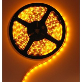 Yellow 12V IP65 SMD3528 LED Strip 60LED/M