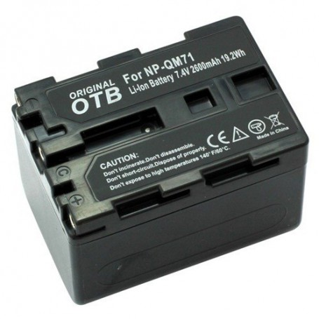 OTB, Batterij voor Sony NP-QM71 Li-Ion 2600mAh, Sony foto-video batterijen, ON1452, EtronixCenter.com