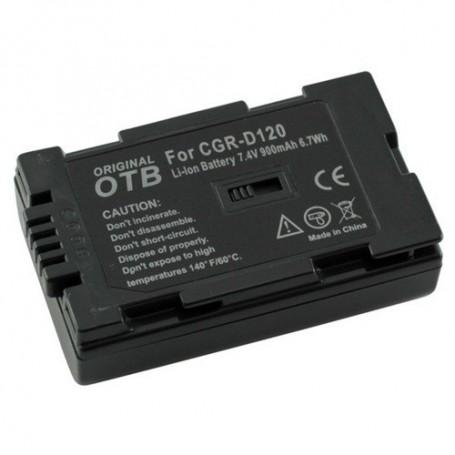 OTB, Batterij voor Panasonic CGR-D120 Li-Ion ON1470, Panasonic foto-video batterijen, ON1470, EtronixCenter.com