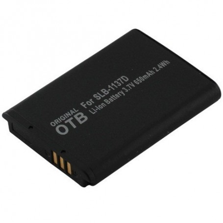 OTB - Battery for Samsung SLB-1137D Li-Ion 650mAh - Samsung photo-video batteries - ON1484 www.NedRo.us