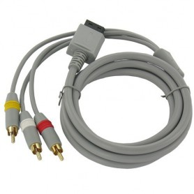 NedRo - Wii AV kabel met 3 Tulp stekkers - Nintendo Wii - YGN598 www.NedRo.nl