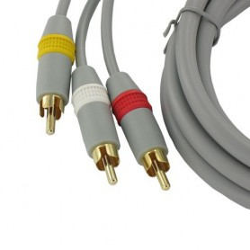 NedRo - Wii AV kabel met 3 Tulp stekkers - Nintendo Wii - YGN598-C www.NedRo.nl
