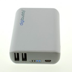 digibuddy - 6600mAh PowerBank Power Station DB-6610 Li-Ion White - Powerbanks - ON1578 www.NedRo.us