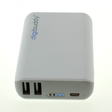 digibuddy - PowerBank 6600mAh DB-6610 Li-Ion Wit - Powerbanks - ON1578 www.NedRo.nl
