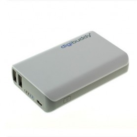 digibuddy - 6600mAh PowerBank Power Station DB-6610 Li-Ion White - Powerbanks - ON1578 www.NedRo.ro