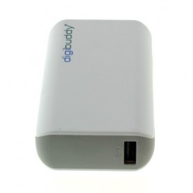 NedRo - 4400mAh PowerBank Power Station DB-4410 Li-Ion White - Powerbanks - ON1602-C www.NedRo.us