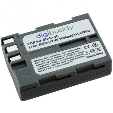 digibuddy, Batterij voor Nikon EN-EL3e Li-Ion 1600mAh, Nikon foto-video batterijen, ON1590, EtronixCenter.com