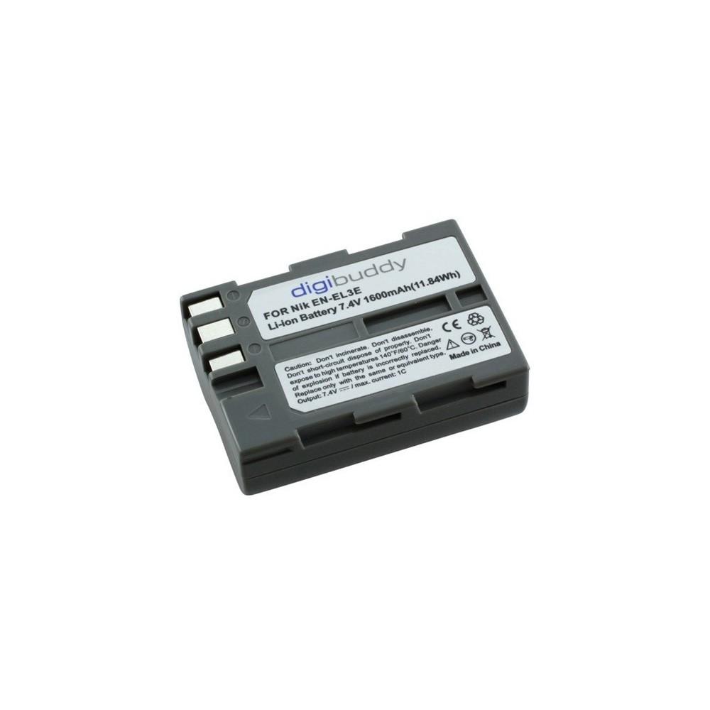 digibuddy - Batterij voor Nikon EN-EL3e Li-Ion 1600mAh - Nikon foto-video batterijen - ON1590 www.NedRo.nl