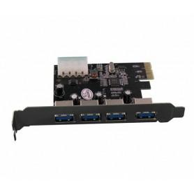 NedRo - PCI Express card with 4 USB 3.0 ports YPU363-1 - Adaptoare de interfață - YPU363-1 www.NedRo.ro
