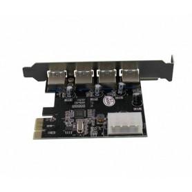 NedRo - PCI Express card with 4 USB 3.0 ports YPU363-1 - Interface adapters - YPU363-1 www.NedRo.us
