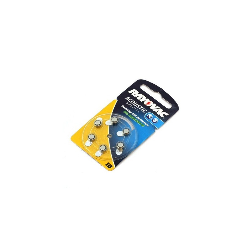 Rayovac - Partij 6x Rayovac Gehoorapparaat batterijen HA10 ON1604 - Knoopcellen - ON1604 www.NedRo.nl