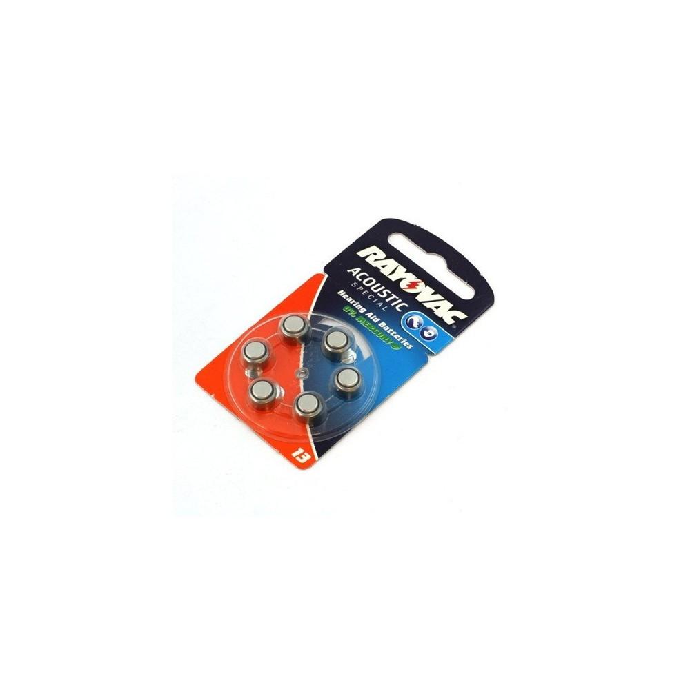 Partij 6x Rayovac Gehoorapparaat batterijen HA13 ON1605