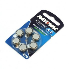 Rayovac - Rayovac Acoustic HA675 / 675 / PR44 / ZL1 640mAh 1.4V Hearing Aid Battery - Button cells - BS082-1x www.NedRo.us