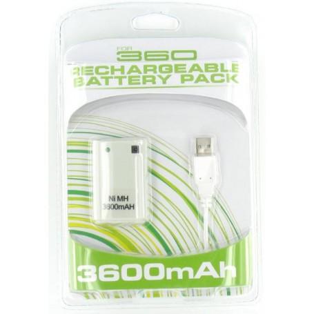Accu + Lader voor XBOX 360