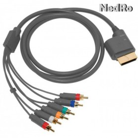 NedRo - Xbox 360 and Xbox Slim component AV-HD cable 1.8m YGX556 - Xbox 360 cables & batteries - YGX556 www.NedRo.us