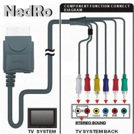 NedRo - Xbox 360 en Xbox Slim component AV kabel 1.8m YGX556 - Xbox 360 Kabel en Accu's - YGX556 www.NedRo.nl