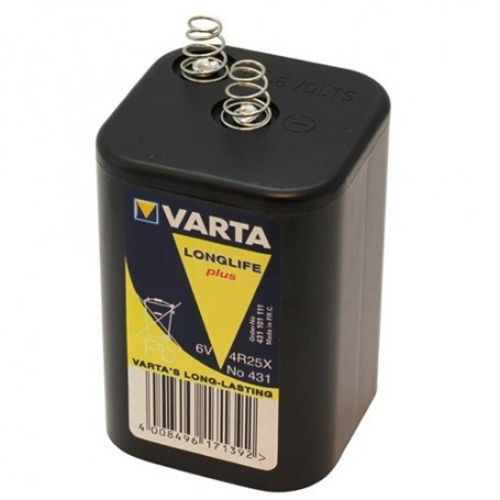 Varta, Varta Batterie 431 / 4R25X 6V block battery, Size C D 4.5V XL, ON1687