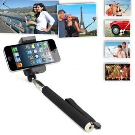 Selfie Stick + Remote-Shutter voor Smartphones Zwart 49472