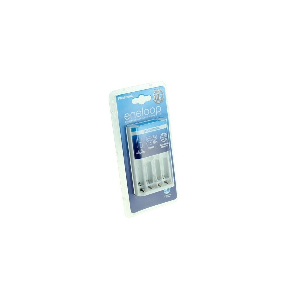 Panasonic - 10h Panasonic Eneloop Basis Lader BQ-CC51 - Batterijladers - ON1738-C www.NedRo.nl