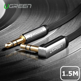 UGREEN - 3.5mm M-M Audio Jack Cable Ultra Flat Right Angle - Audio kabels - UG001 www.NedRo.nl