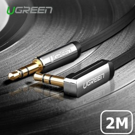 UGREEN - 3.5mm M-M Audio Jack Cable Ultra Flat Right Angle - Audio kabels - UG004 www.NedRo.nl