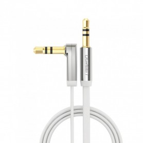 UGREEN - 3.5mm M-M Audio Jack Cable Ultra Flat Right Angle - Audio kabels - UG297 www.NedRo.nl