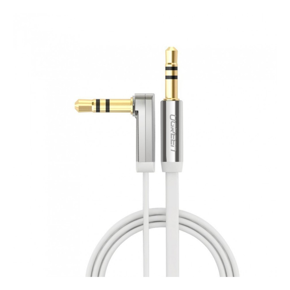 3.5mm M-M Audio Jack Cable Ultra Flat Right Angle